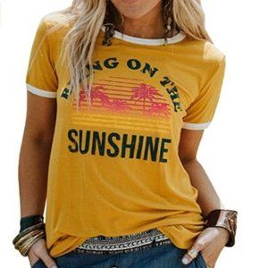 Bring On The Sunshine Tees 1-Yellow Women Tops